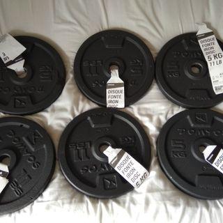 Discos pesas para mancuernas 5kg