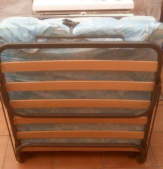 cama plegable con colchon de 80 cm