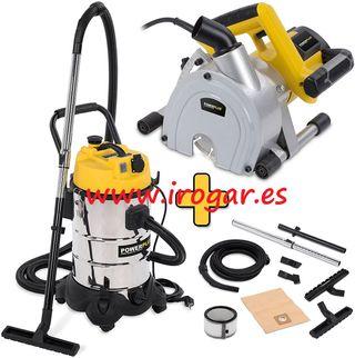 Rozadora POWX0650 y aspiradora POWX3240 POWERPLUS