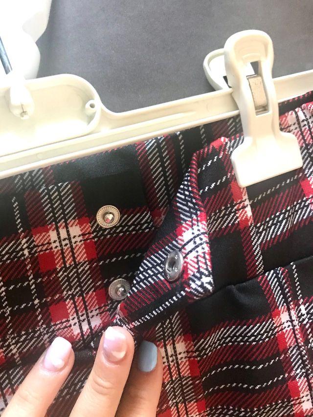 Pantalones de licra estampado de cuadros