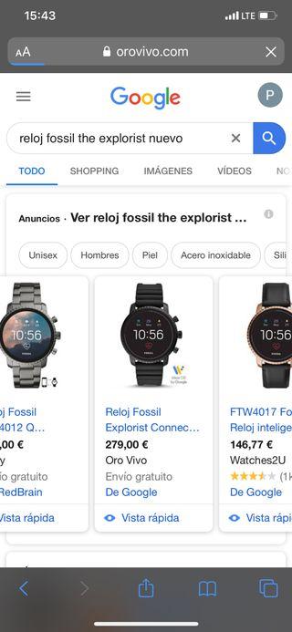 Reloj Fossil smartwatch chulisimo