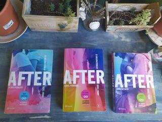 Libros 2, 3 y 4 de After.