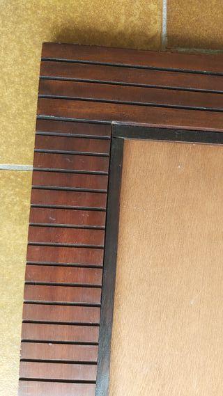 Marco de madera maciza de nogal