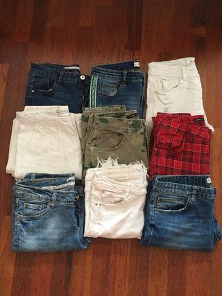 Pack 9 pantalons texans