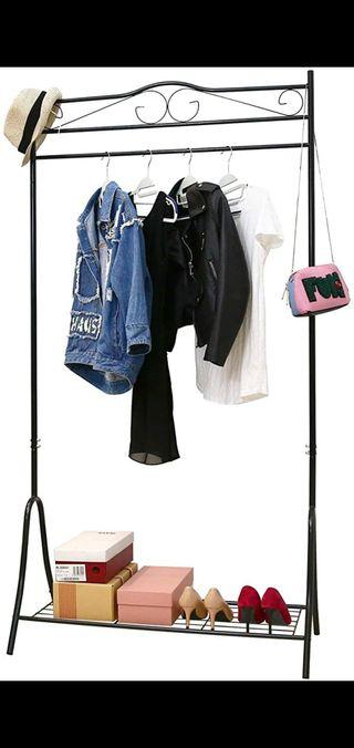 Metal clothing rack