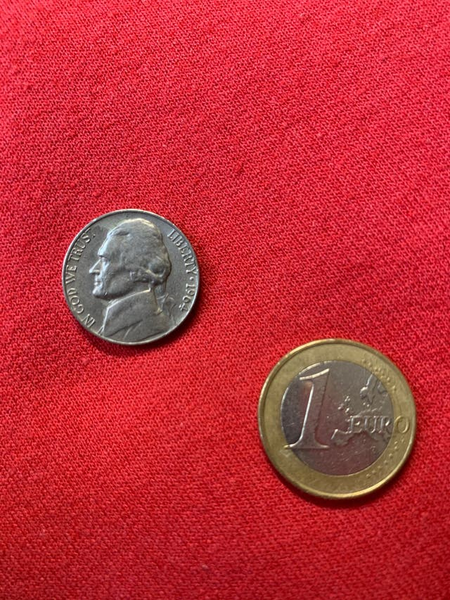 Moneda 5 céntimos de dólar de 1964