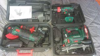 Kit herramientas a batería PARKSIDE