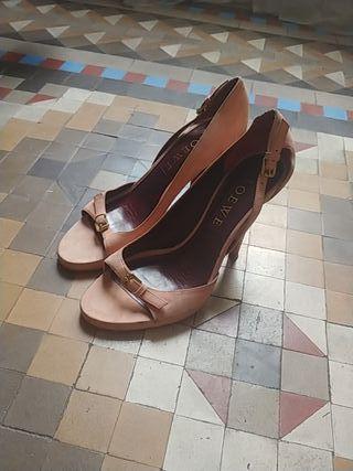 Sandalia Para Vestir Loewe. Rosa Maquillaje