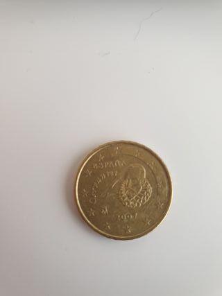 moneda 10 centimos especial Cervantes 2007