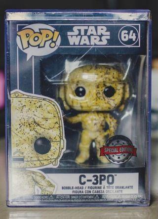 Funko Pop¡ C-3PO Exclisivo Graffiti futura