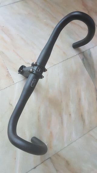 Manillar y potencia bicicleta carretera