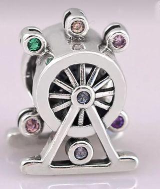 charm abalorio plata