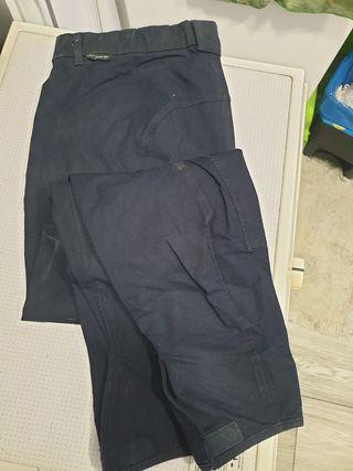 Pantalon Montar Caballo Hombre Talla 50 Azul marin