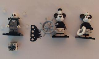 Tres minifiguras Disney Lego ORIGINALES