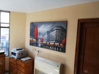 Lienzo/pintura a oleo, Paris blanco y negro