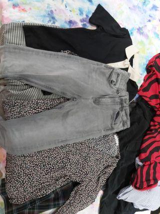 pantalon vaquero zara pitillo gris