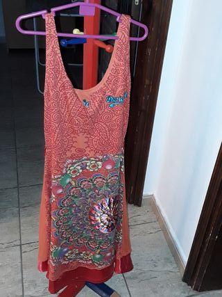 vestido desigual talla S