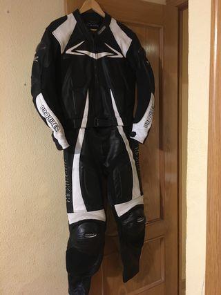 Mono de moto para hombre de piel