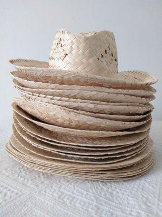 lote 21 sombreros de paja