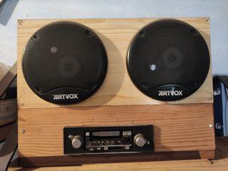 Ràdio cassette de madera