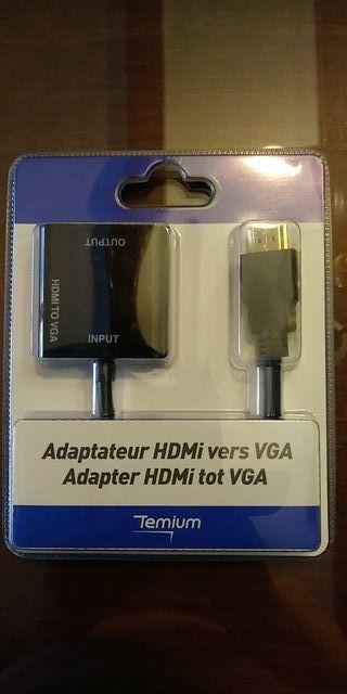 Adaptador HDMI macho a VGA hembra