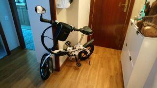 Bicicleta eléctrica plegable con accesorios