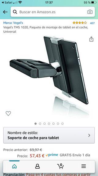 Soporte tablet o móvil para coche