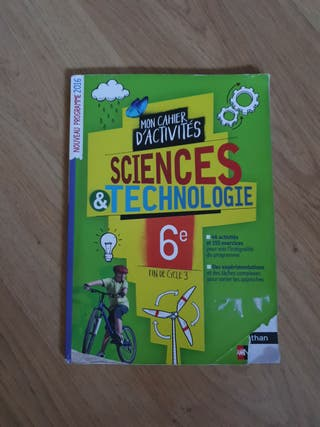 Cahier de sciences & techno 6eme.