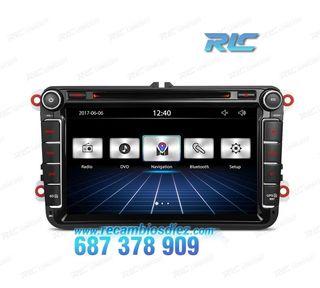 "RADIO NAVEGADOR 8"" VW USB GPS TACTIL HD"
