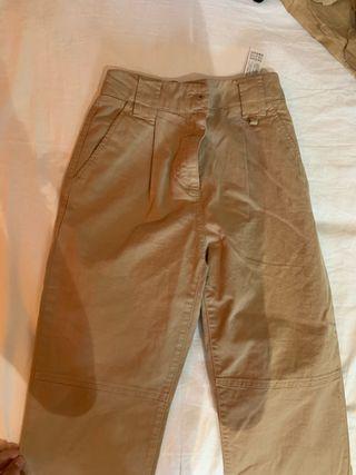 Pantalones anchos marrones