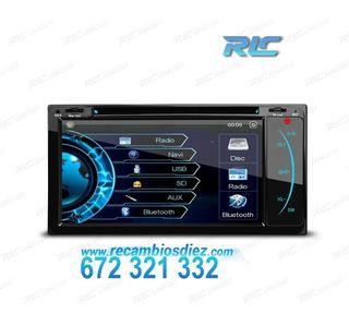 "RADIO NAVEGADOR 2DIN GPS 7"" HD TÁCTIL TOYOTA BLUET"