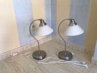 Pareja de lámparas escritorio mesita noche
