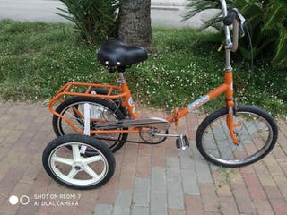 Bicicleta triciclo adulto plegable mixto