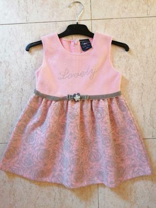 Vestido De Fiesta niña talla 2-4 años