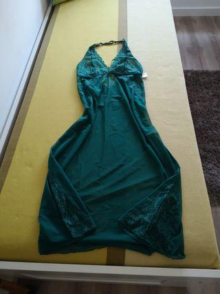Camisón lencero verde