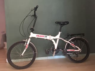 Bicicleta de aluminio plegable con marchas