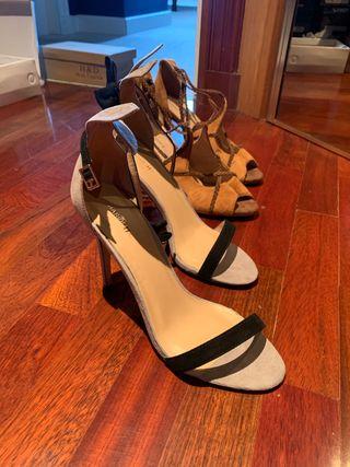 Lote de zapatos de tacón, stiletos, botines