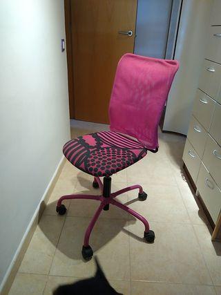 silla de escritorio juvenil con ruedas