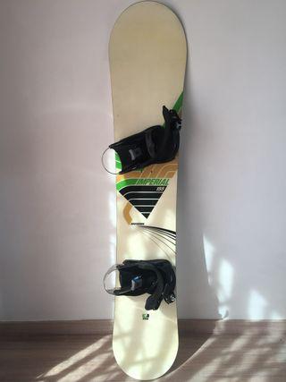 Tabla snowboard rossignol con fijaciones y bolsa