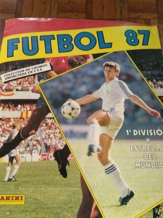 Álbum fotos fútbol 87 completo