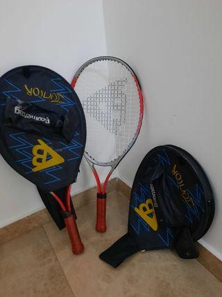 2 Raquetas tenis junior (6€ cada una con funda)