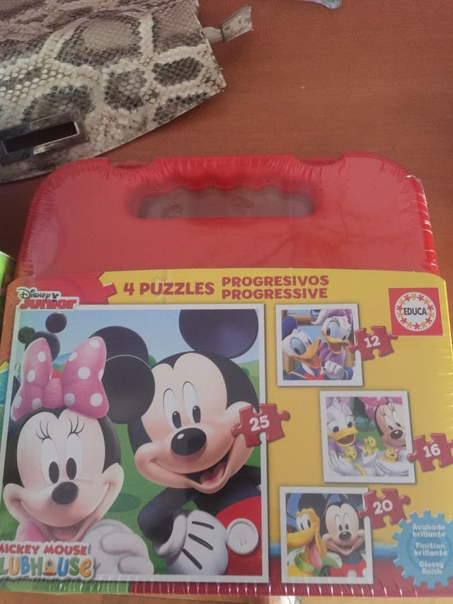 Pack maleta Puzzles Progresivos niños sin abrir