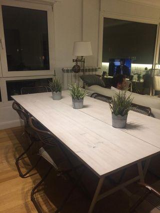 Mesa de tablero de pino 2,00 X 90