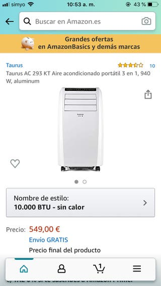 Taurus AC Portátil Se vende por mudanza
