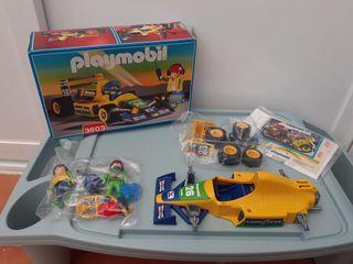 Playmobil 3603 formula 1 amarillo en caja completo