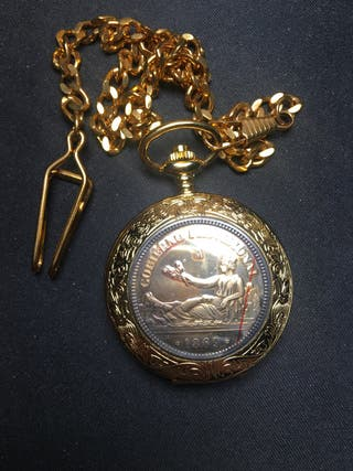 Reloj bolsillo Moneda plata 1869