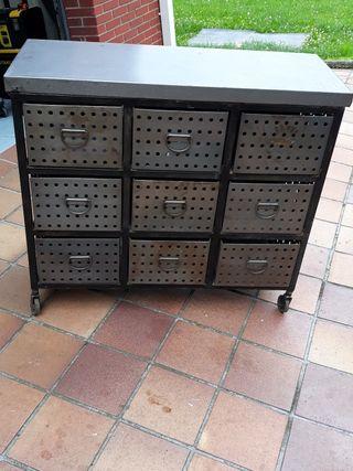 aparador industrial vintage 9cajones hierro