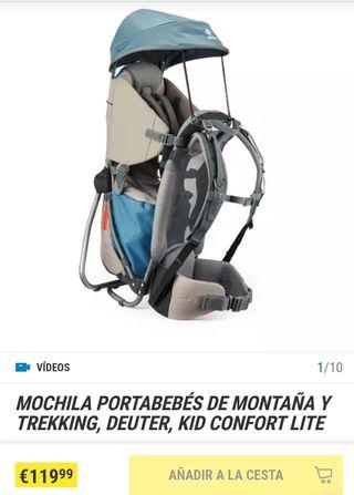 MOCHILA PORTABEBÉS DE MONTAÑA Y TREKKING, DEUTER,
