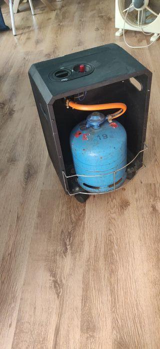 estufa de gas azul