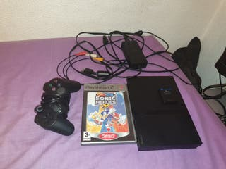 Playstation 2+Cables+Memory card+Sonic heroes+Mand